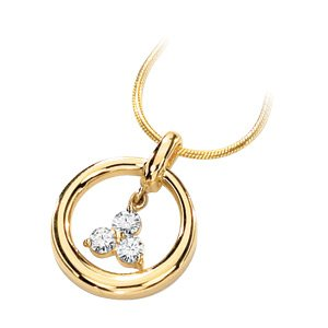 Moissanite Trinity Necklace