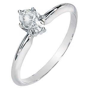 Moissanite Oval Cut Engagement Ring .50 ct
