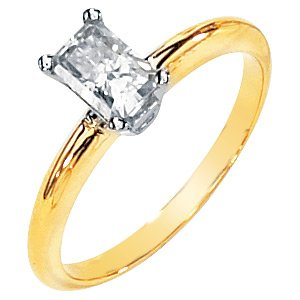 Emerald Cut Moissanite Engagement Ring .50 ct