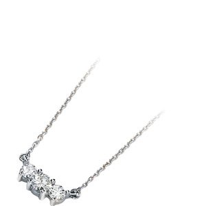 Moissanite Three Stone Retro Necklace
