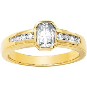Moissanite & Diamond Contemporary Ring*