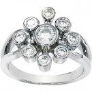 Moissanite Nine-Stone Fashion Ring*