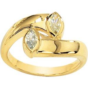 Marquise Moissanite Promise Ring