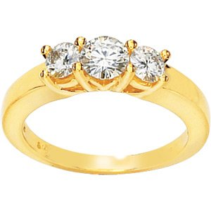 Three Stone Moissnite Anniversary Ring 1 ct tw