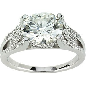 Moissanite and Diamond Ring, 3 ct