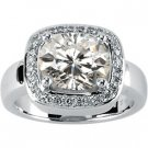 3 ct Moissanite and Diamond Dinner Ring