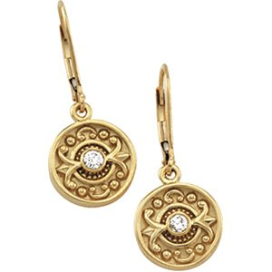 Etruscan Inspired Moissanite Dangle Earrings