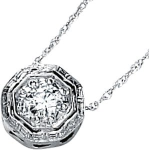 Round Moissanite Slide Necklace