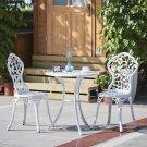 VANCY Modern Set Porch Aluminum Balcony Table & Garden Chair Set Leaf Furniture