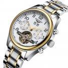 VANCY Brand Sapphire Business Men Automatic Mechanical Wristwatch Waterproof Genuine Leather