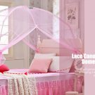 VANCY Princess Elegant Lace Mosquito Net Canopy Circular Curtain Round Dome Bedding