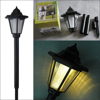 VANCY Best Quality 1-LED Super Bright White Light Solar LED Garden and Lawn Light (CIS-41537)