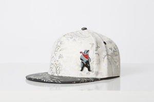 Polar whites black and white faux leather paisley print cap