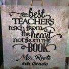 "Teacher Gifts Apple Best School Personalized Ceramic Tile 12 x 12"" Custom Gift Love"