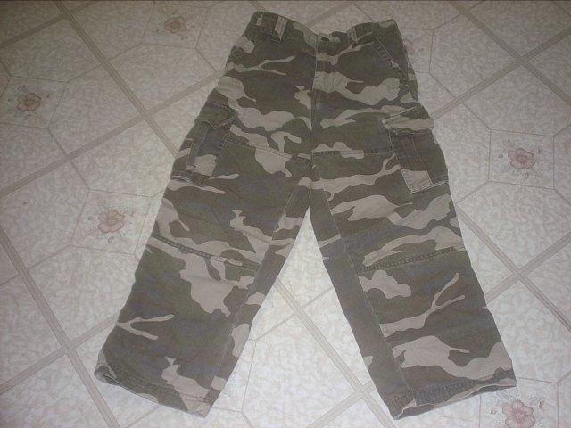 ~NEW~ Boy's Cargo Camoflauge pants, Size 7