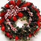 SALE!! 50% OFF original price! CHRISTMAS WREATH~LED LIGHTS~Red~Winter~Decoration