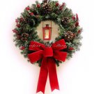 SALE! 50% OFF Original Price! Christmas Wreath~LANTERN~LED Timer~Red~Candle~Pine