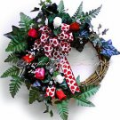 VALENTINES DAY WREATH~Bow~Decor~Gift~Love~Her~Roses~Red~Pink~Natural~Nice