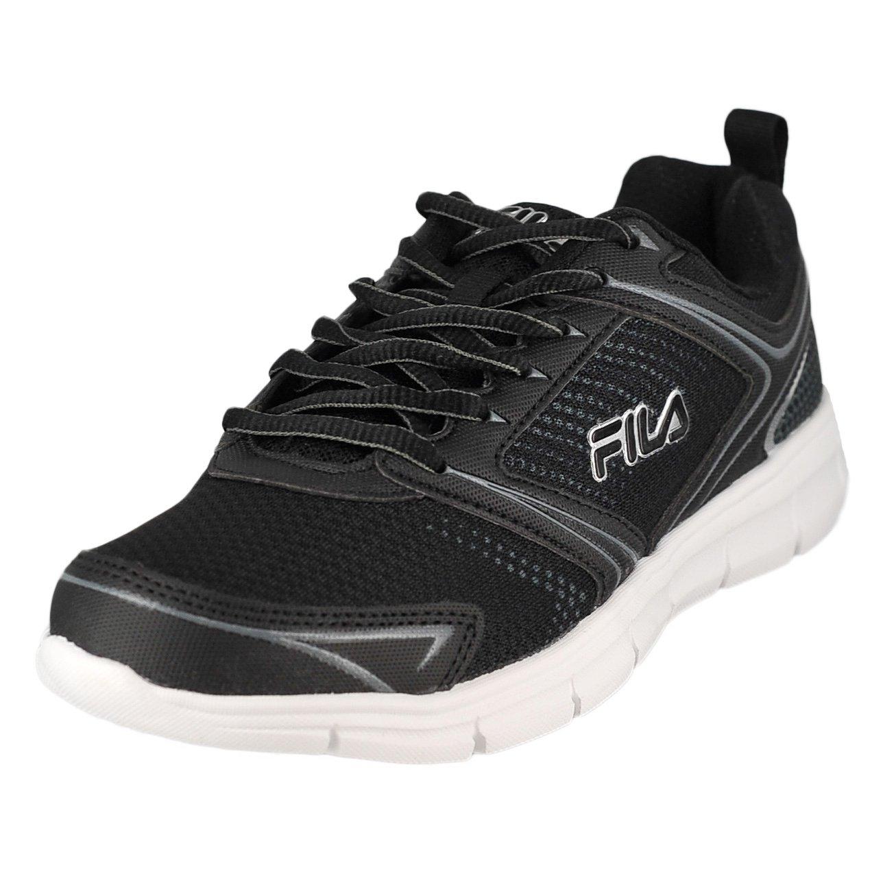 Fila Windstar 2 Black/Black/Metallic Silver Mens Running Size 13