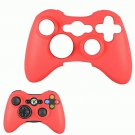 RED SKIN XBOX 360 CONTROLLERS WITH FREE CONTROLLER STICK COVERS BLACK XBOX360