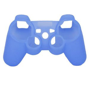 BLUE CONTROLLER SKIN COVER PLAYSTATION 3 FREE CONTROLLER THUMB STICK COVERS PS3