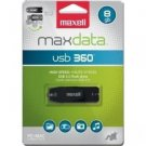 Maxell Maxdata 503202 8 GB USB 2.0 Flash Drive - Black - External
