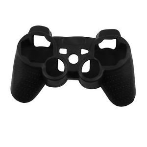 BLACK PLAYSTATION 3 CONTROLLER SKINS WITH FREE CONTROLLER STICK COVERS BLACK PS3