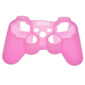 PINK PS3 CONTROLLER SKINS WITH FREE BLACK STICK COVERS PLAYSTATION 3 CONTROLLERS
