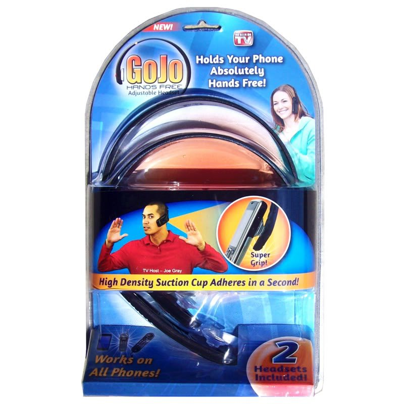 GoJo Go Jo Hands Free Adjustable Headset 2 packet As Seen On TV