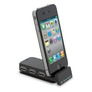 Kensington Pocket Hub 3-Port USB and Sync Travel Hub Dock for iPod and iPhone
