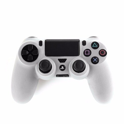 WHITE CONTROLLER SKIN PS4 FREE CONTROLLER STICK COVERS PLAYSTATION 4 SKINS BLACK