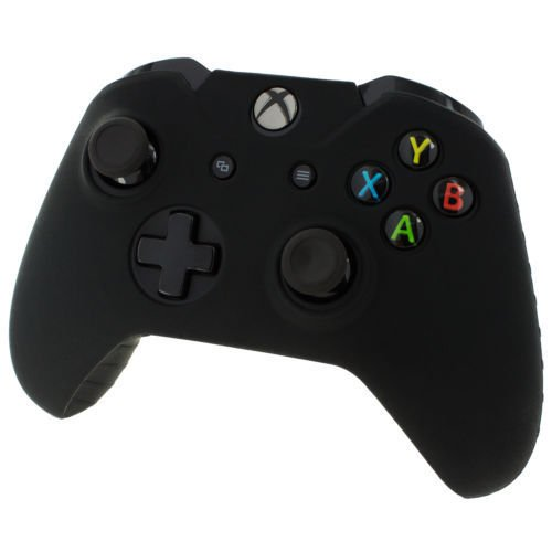 Black Xbox One Controller Covers Black With Free Thumb Stick Covers Xbox 1 Black Xb1