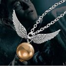 Harry Potter Golden Snitch Pendant Necklace Movie Jewelry