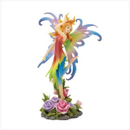 FAIRY AND ROSE FIGURINE