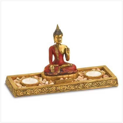 BUDDHA CANDLE & INCENSE BURNER