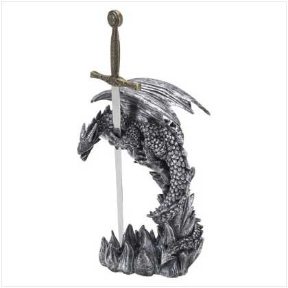 SWORD AND DRAGON LETTER OPENER