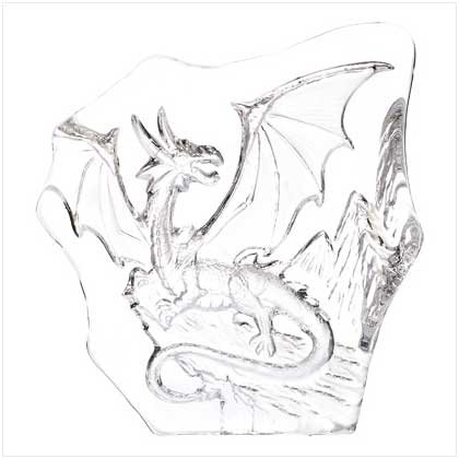 CARVED GLASS DRAGON