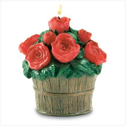 ROSES IN BUCKET CANDLE