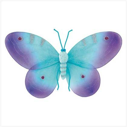 PURPLE BUTTERFLY WALL DECOR