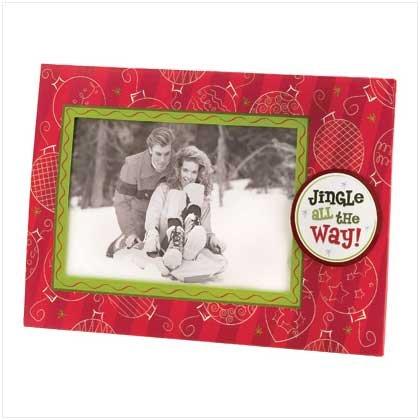 JINGLE ALL THE WAY PHOTO FRAME GREETING CARD