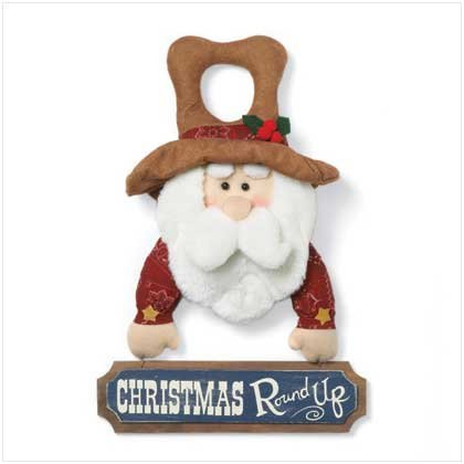 CHRISTMAS ROUND UP DOOR HANGER