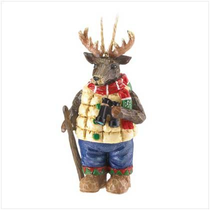 DEER WITH BINOCULARS ORNAMENT