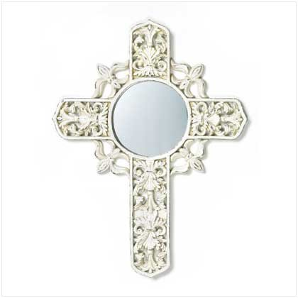 DISTRESSED CROSS MIRROR