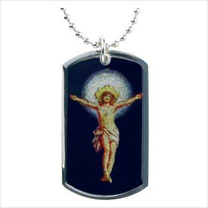 HOLY JESUS DOGTAG NECKLACE