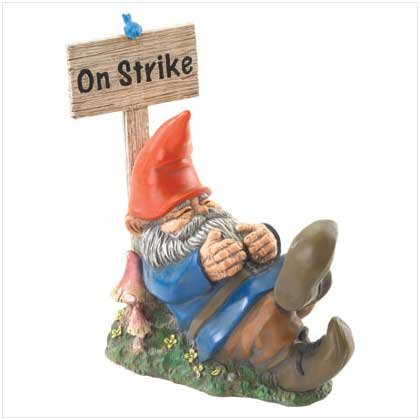 """ON STRIKE"" SLEEPING GNOME"