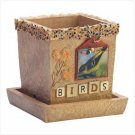BIRDS SCRAPBOOK CACHE POT