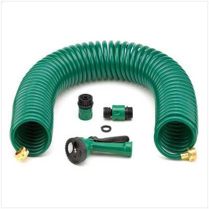 SELF-COILING GARDEN HOSE