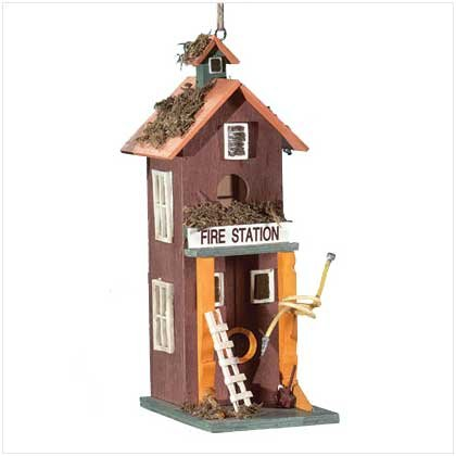 """FIRE STATION"" BIRDHOUSE"