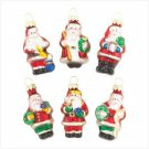 SANTA GLASS ORNAMENTS