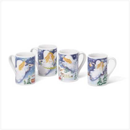 CHRISTMAS ANGEL MUGS